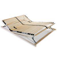 vidaXL Slatted Bed Base with 28 Slats 7 Zones 120x200 cm