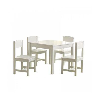 KidKraft Farmhouse Table with 4 Chairs White
