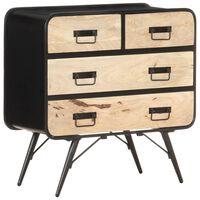 vidaXL Sideboard 80x35x80 cm Solid Mango Wood