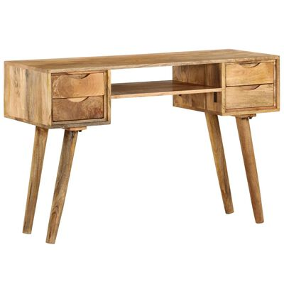 Vidaxl Writing Desk Solid Mango Wood, Mango Wood Desk