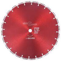 vidaXL Diamond Cutting Disc with Turbo Steel 350 mm