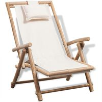 vidaXL Outdoor Deck Chair Bamboo