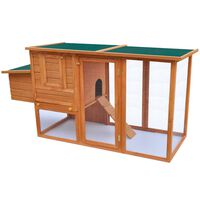 vidaXL Outdoor Chicken Cage Hen House with 1 Egg Cage Wood