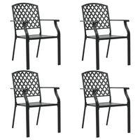 vidaXL Outdoor Chairs 4 pcs Mesh Design Steel Black