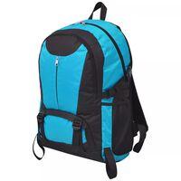 vidaXL Hiking Backpack 40 L Black and Blue