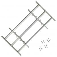 Adjustable Security Grille for Windows with 3 Crossbars 500-650 mm