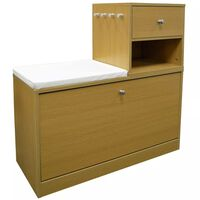 Telephone / Hall Table with Shoe Storage Bench - Oak