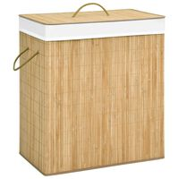 vidaXL Bamboo Laundry Basket 100 L