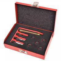 vidaXL Nine Piece Glow Plug Thread Repair Kit M8 x 1.0 mm