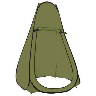vidaXL Pop Up Shower Tent Green