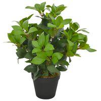 vidaXL Artificial Plant Laurel Tree with Pot Green 40 cm