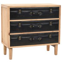 vidaXL Drawer Cabinet Solid Fir Wood 80x36x75 cm