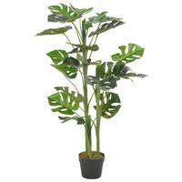 vidaXL Artificial Plant Monstera with Pot Green 100 cm