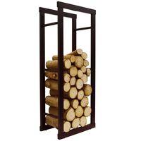 ONIDA - Metal 40cm Slimline Fireside Log Storage Rack - Black