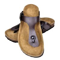 vidaXL Women's Bio Cork Sandal with Flip Flop Design Brown Size 41