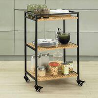 SoBuy 3 Tiers Drinks Serving Trolley Kitchen Shelf FKW65-N