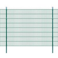 vidaXL 2D Garden Fence Panels & Posts 2008x1630 mm 26 m Green