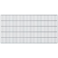 vidaXL 2D Garden Fence Panels 2.008x1.03 m 8 m (Total Length) Grey