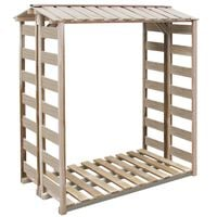 vidaXL Firewood Storage Shed 150x90x176 cm Impregnated Pinewood