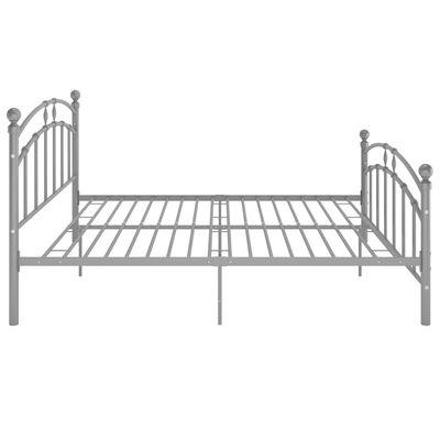 vidaXL Bed Frame Grey Metal 180x200 cm