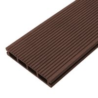 Composite Decking Boards Edging Wood Plastic / 5 SQM Conker Brown