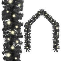 vidaXL Christmas Garland with LED Lights 5 m Black