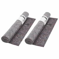 vidaXL Non-slip Painter Fleece 2 pcs 50 m 180 g/m² Grey