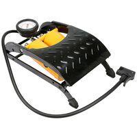 VOREL Double-Piston Foot Pump with Pressure Gauge