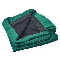 Velvet Armchair Cover Green Bernes