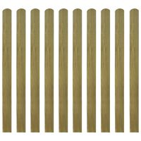 vidaXL 30 pcs Impregnated Fence Slats Wood 120 cm