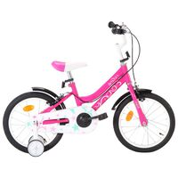 vidaXL Kids Bike 16 inch Black and Pink