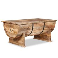 vidaXL Coffee Table Solid Mango Wood 88x50x40 cm