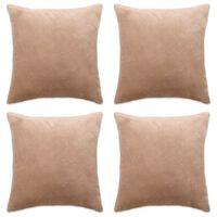 vidaXL Cushion Covers 4 pcs Velour 80x80 cm Beige