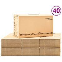 vidaXL Moving Boxes Carton XXL 40 pcs 60x33x34 cm