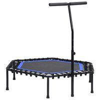 vidaXL Fitness Trampoline with Handle 122 cm