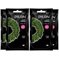 Dylon Hand Fabric Dye Sachet, Olive Green, 4 Packs Of 50g