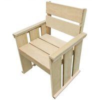vidaXL Outdoor Chair Impregnated Pinewood