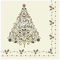 Swantex 'Tis The Season Christmas Napkins 3 ply 40cm - 1x100