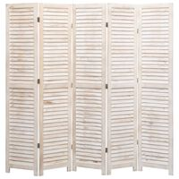 vidaXL 5-Panel Room Divider 175x165 cm Wood