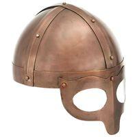vidaXL Viking Helmet Antique Replica LARP Copper Steel