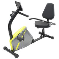 vidaXL Magnetic Recumbent Exercise Bike with Pulse Measurement
