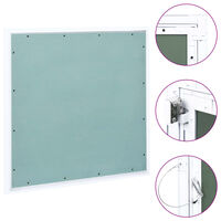 vidaXL Access Panel with Aluminium Frame and Plasterboard 700x700 mm