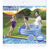 Bestway Fast Set 3 Ring Round Plastic Paddling Pool For Kids