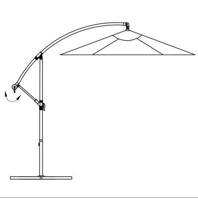 vidaXL Cantilever Umbrella 3.5 m Sand White