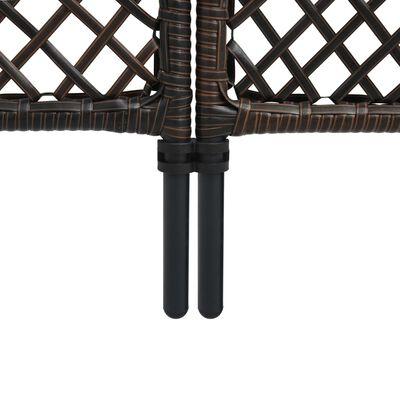 vidaXL Fence Panel Poly Rattan 2.4x2 m Brown
