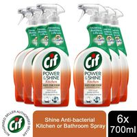 Cif Power & Shine Antibacterial Kitchen, 6 Packs Of 700ml