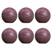Bolsius Rustic Ball Candle 80 mm Purple 6 pcs