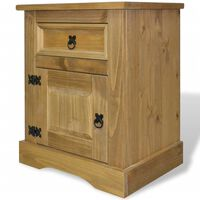 vidaXL Bedside Cabinet Mexican Pine Corona Range 53x39x67 cm