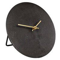 Gifts Amsterdam Desk Clock Moon S Aluminium Black 20cm