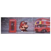 vidaXL Canvas Wall Print Set London Multicolour 120x40 cm